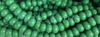 Preciosa 6/0 Czech Seed Beads - Opaque Green (Color #53250) - In 71 gram hanks with approx 900 beads in each hank