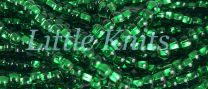 Preciosa 6/0 Czech Seed Beads - Silver Lined Emerald (Color #57060) - In 65 gram hanks with approx 830 beads in each hank