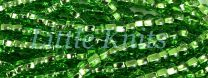 Preciosa 6/0 Czech Seed Beads - Silver Lined Light Green (Color #57430) - In 65 gram hanks with approx 830 beads in each hank