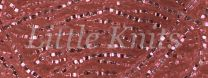 Preciosa 6/0 Czech Seed Beads - Silver Lined Light Pink (Color #78191)