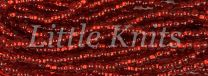 6/0 Czech Seed Beads  - Silver Lined Light Ruby (Color #97070) 20 Gram Tube