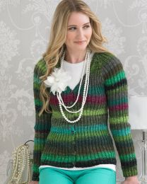 Beauty Ribbed Cardigan- This pattern is included in the Noro Boutique Book (Price is for the whole book)