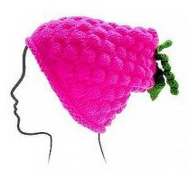 Euro Baby Fruits & Veggies Hat Kits - Raspberry (Color #10) - Knitting Pattern
