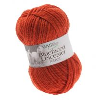West Yorkshire Spinners Bluefaced Leicester Aran - Burnt Orange (Color #250) - FULL BAG SALE (5 Skeins)