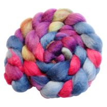 DragonFibers Blue Face Leicester - Berry Patch