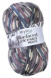 WYS Bluefaced Leicester Aran Prints - Wood Pigeon (Color #864)