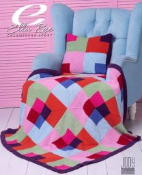 Stained Glass Blanket & Cushion  - A Cashmereno Sport Pattern - FREE WITH PURCHASES OF 10 SKEINS OF CASHMERENO SPORT