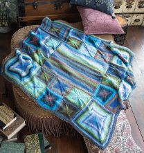 Perfectly Square Throw - Free with Purchase of 9 Skeins of Ella Rae Phoenix DK Prints (PDF File)