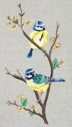 Anchor Freestyle Embroidery Kit - Blue Tits (Mésanges Bleues)