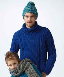 Men's Ribbed Hat & Cabled Turtleneck Patterns (Purchase ONLY ONE COPY to get all the patterns from SMC Inspiration - 60)