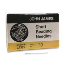 John James Short Beading Needles - Size #10