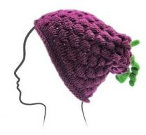 Euro Baby Fruits & Veggies Hat Kits - Boysenberry (Color #06) - Knitting Pattern