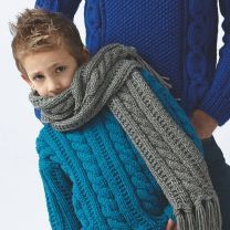 Boy's Sweater with Scarf Patterns (Purchase ONLY ONE COPY to get all the patterns from SMC Inspiration - 60)