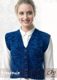 Cabled Detail Waistcoat - Free Download with Purchase of 3 or More Skeins of Huasco Worsted