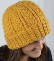 Cabled Hat - A Cozy Alpaca Chunky Pattern - FREE WITH PURCHASES OF 2 SKEINS OF COZY ALPACA CHUNKY