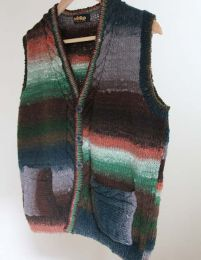 Cabled Waistcoat - Free with Purchase of 3 Skeins of Noro Kureopatora (PDF File)