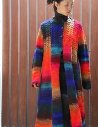 Cabled Coat - Free with Purchase of 10 Skeins of Noro Kureopatora (PDF File)