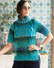 Cabled Tee (Free Download with Noro Kagayaki Purchase of 5 or more skeins)