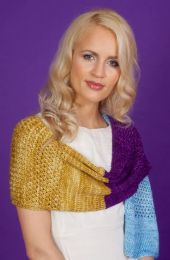 Camilla Wrap - A Mana Pattern - Free with purchases of 3 or More skeins of Mana (PDF File)