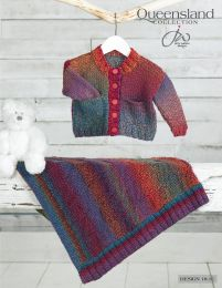 Cardigan and Blanket - Free with Purchase of 5 Skeins of Queensland Brisbane (PDF File)