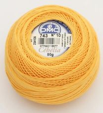 Cebelia Crochet Thread Size 10 - Warm Yellow (Color #743)
