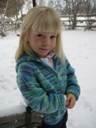 Knitting Pure and Simple - Children's Neckdown Cardigan