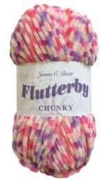 James C. Brett Flutterby Chunky - Bubblegum (Color #B26)
