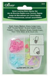 Clover Quick Locking Stitch Marker - Large Medium Small Set (Item #3033)