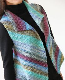 Collared Vest by Noro Team - FREE WITH PURCHASES OF 3 OR MORE HANKS OF MIYAKI (Please add to cart for Pdf)
