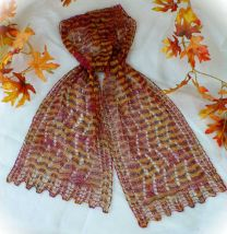 HeartStrings Pattern - Colorful Splendor Lace Scarf
