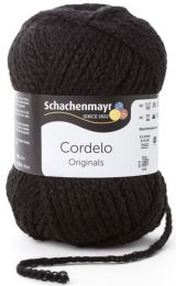 Schachenmayr Cordelo - Black (Color #99) - FULL BAG SALE (5 Skeins)