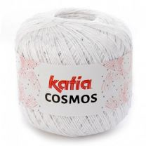 Katia Cosmos - White with Tiny Light White Sequins (Color #200)