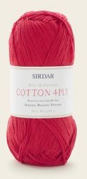 Sirdar Cotton 4 Ply - Refreshing Red (Color #541) - FULL BAG SALE (5 Skeins)