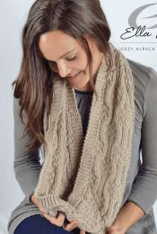 Mosaic Scarf - A Cozy Alpaca Chunky Pattern - FREE WITH PURCHASES OF 3 SKEINS OF COZY ALPACA CHUNKY
