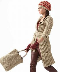 Ladies' Coat & Crochet Beanie Pattern (Purchase ONLY ONE COPY to get all the patterns from SMC Inspiration - 60)