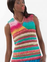 Crossover Vest - Free Download with Purchase of 3 Skeins of Noro Taiyo