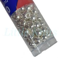 6/0 Czech Seed Beads  - Fine Silver Plated (Color #31000) 9 Gram Tube
