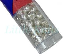 6/0 Czech Seed Beads  - Fine Silver Plate Etched (Color #31080) 9 Gram Tube