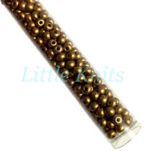 6/0 Czech Seed Beads  - Bronze Gold (Color #01740) 20 Gram Tube
