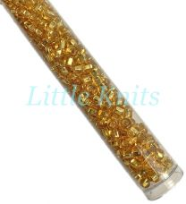 6/0 Czech Seed Beads  - Silver Lined Gold (Color #17050) 20 Gram Tube