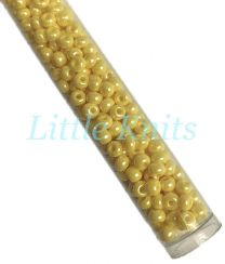 6/0 Czech Seed Beads  - Opaque Luster Yellow (Color #88110) 20 Gram Tube