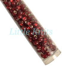 6/0 Czech Seed Beads  - Silver Lined Ruby (Color #97090) 20 Gram Tube