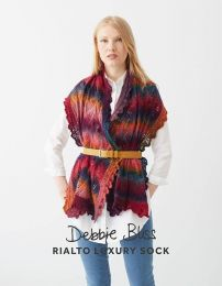 Lace Edged Stole - Debbie Bliss Rialto Luxury Sock Pattern (Item #db062)