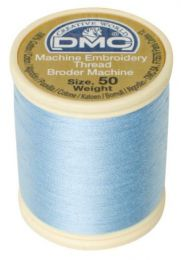 DMC Machine Embroidery Thread, Size 50 - Light Silky Blue (Color #3325)