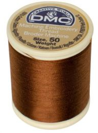 DMC Machine Embroidery Thread, Size 50 - Mocha (Color #433)