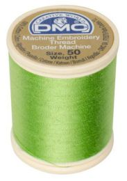 DMC Machine Embroidery Thread, Size 50 - Light Silky Green (Color #704)