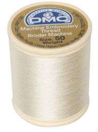 DMC Machine Embroidery Thread, Size 50 - Light Beige (Color #712)