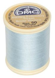 DMC Machine Embroidery Thread, Size 50 - Lightest Aqua (Color #775)