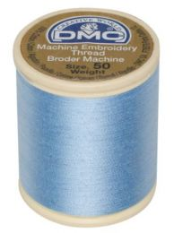 DMC Machine Embroidery Thread, Size 50 - Morning Sky Blue (Color #800)