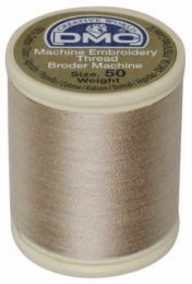 DMC Machine Embroidery Thread, Size 50 - Light Beige (Color #842)